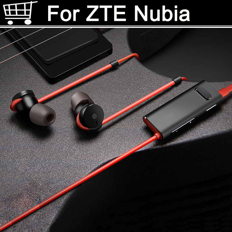 For <font><b>Nubia</b></font> z17 Z11 z17s <font><b>mini</b></font> <font><b>S</b></font> In-Ear Headphone support aptX Noise Cancelling MIC Aluminium Alloy shell TPE Line For <font><b>Nubia</b></font> z11 image