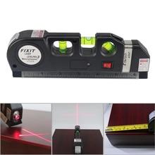 Laser-niveau Kruis Lijn Laser Tape 2.5 M Measurment Multipurpose Hand Tool