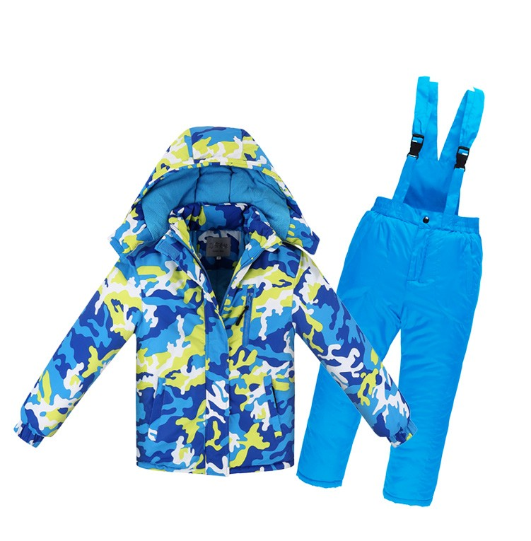 Newly children winter ski Snow suits jacket+overalls child -30 degree sports tracksuit for 10y kid boy girl jacket pants clothes wholesale boy girl floral beauty skullies colored rhinestone flower style luxury winter hats for children 3 12 year kid beanies