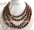 75'' 10 mm Coffee Baroque Freshwater Pearl Necklace