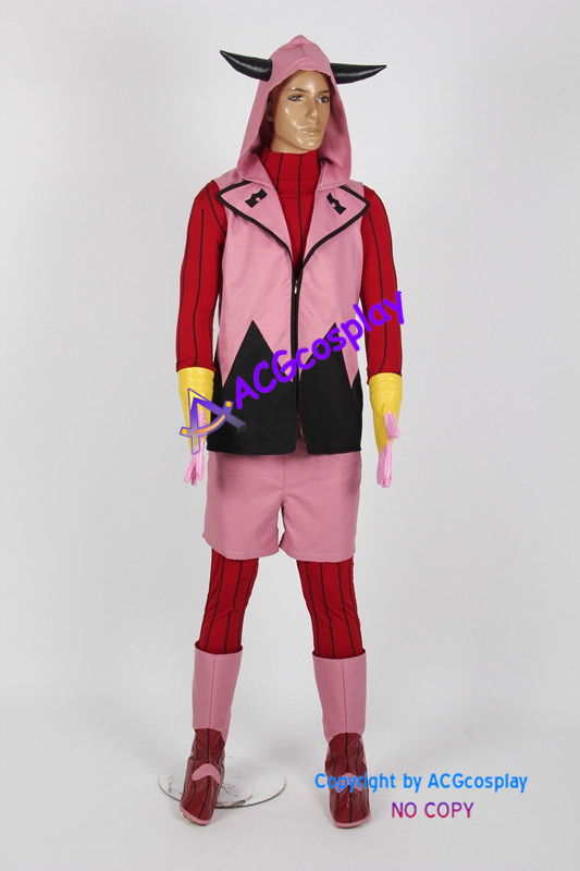 Pokemon Omega Ruby Tabitha Cosplay Costume include boots covers and gloves image