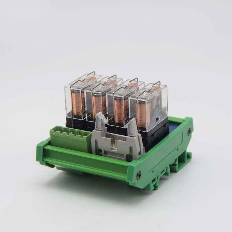 4 way 10 pin relay module single 24V electromagnetic isolation relay module in Relays from Home Improvement
