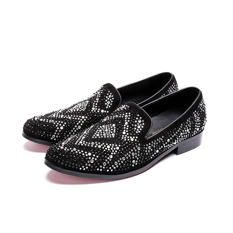 0d34761f807176 Slip Haute Bout 2 Hommes Casual Qualité Beige Taille Véritable Cuir De  Chaussures noir 38 on ...
