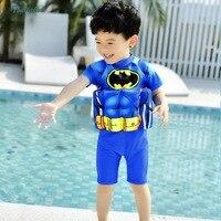 Jungen Kinder Batman Bademode Sommer Jungen Mädchen Cartoon Strand Schwimmen Badeanzug Jungen Bade Einteiliges Strampler 2018 Neue sommer