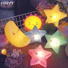 VOPPV светодио дный луна ночь свет лампы Luminaria ночники для детей/Украшения в спальню сон номер светодио дный настольный ночник малыш подарок