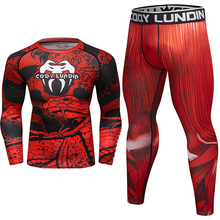 MMA T Shirt +pants Men Rashguard BJJ Boxing jerseys Suit 3D printed Compression Tops Cross Fit shirts Gym Muay thai t