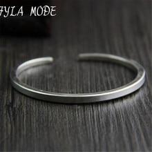 Fyla Mode New Famous Brand Trendy Antique Thai 925 Silver Bangles & Bracelets For Men Women Fashion Jewelry Lover's Gift PKY315