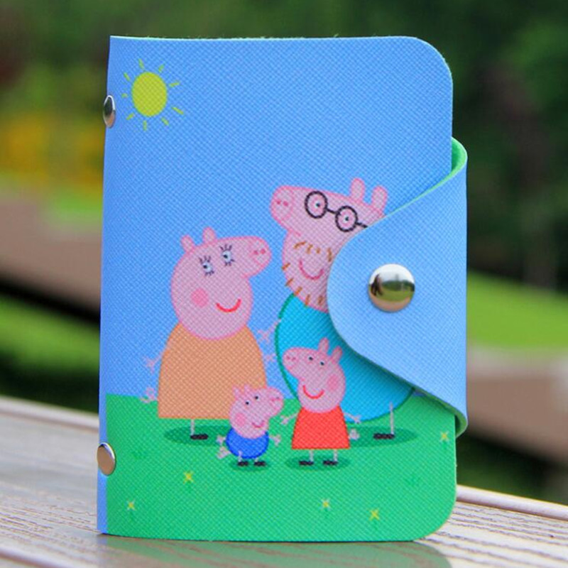 M169 Lovely Passport Holders 20 Card Holders Cartoon Animal Girl Printing Women Multi Card Large Capacity Hasp Bag Wholesale