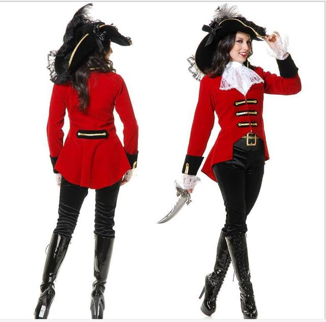 Pirata Traje Adulto Mujeres Halloween Carnaval Cosplay Fancy - Maquillaje-de-mujer-pirata