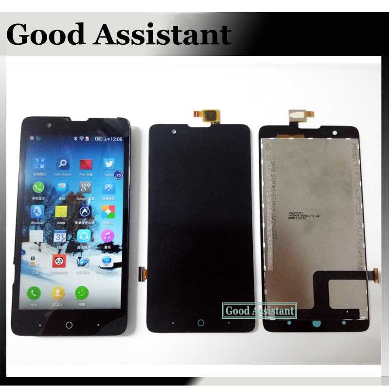imágenes para 100% Probado Negro Pantalla LCD + Pantalla Táctil de 5.0 pulgadas el montaje del digitizador para zte redbull v5 v9180 n9180 u9180 v5s N918ST