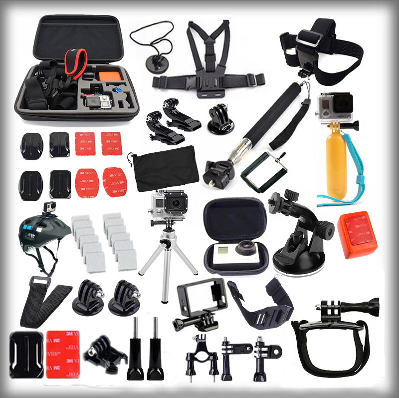 product GoPro accessories 38 in 1 Family Kit Go Pro accessories set package for GoPro HD Hero 4 3+ 3 accessories Drop Shipping
