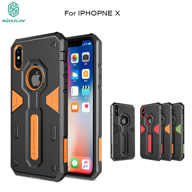 buy popular 194e1 dd362 US $9.89 35% OFF|For Apple iPhone X cover Nillkin Defender 2 Shockproof  Armor Case Tough Rugged Shield Back Cover Armour support For iphone 10-in  ...