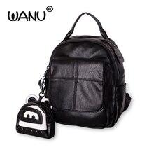 Wanu известный дизайнер Элитный бренд рюкзак Для женщин кожаный рюкзак черный нейлон Водонепроницаемый рюкзаки SAC DOS Femme от Louis Vuitton