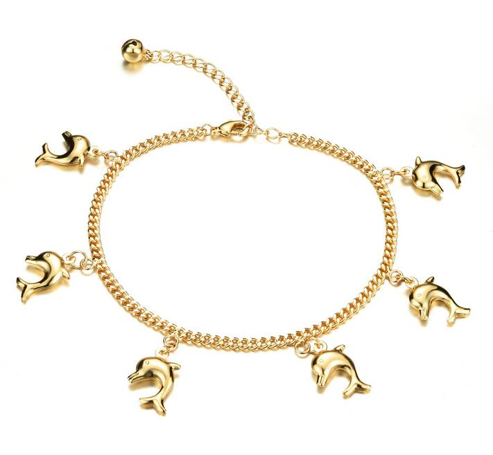 Cut Dolphin Woman's Anklets Classical Women Fashion Jewelry Ankle Bracelet Cheap Price KZ735