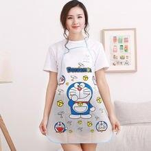 0048b93cdb 1pc Cute Cartoon Princess Apron Jingle Cat Mickey Half Transparent Waterproof  Apron Kitchen Anti-Oil