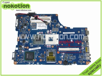 NOKOTION LA-4981P K000010002 Laptop Motherboard for Toshiba A500 L500 L505 Intel KSWAA Intel PM45 DDR2 with graphics slot
