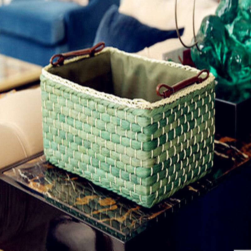 2016 nový stolní kosmetika skladovací boxy hračky spodní prádlo obchod obsah skladování koše venkovské trávy ratanové koše bez krytu