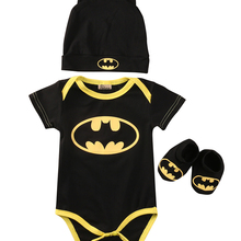 Emmababy Baby Clothes Set Summer Cute Batman Newborn Baby Boys Infant Rompers+