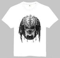 Movie AVP Alien Vs Predator T Shirt White Color Short Sleeve Alien AVP Darthworks T Shirt