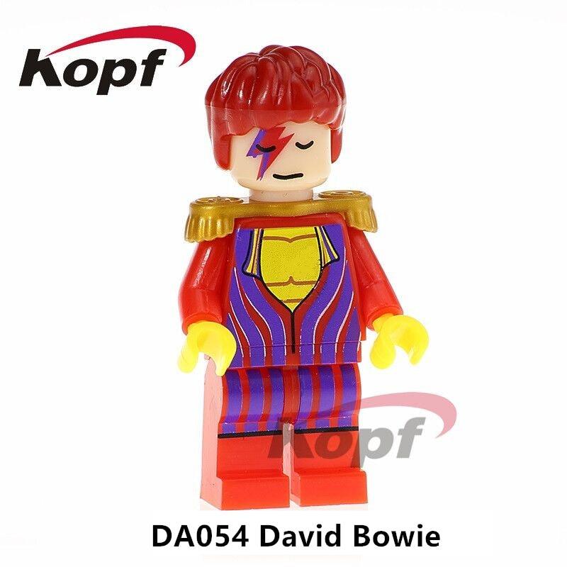 Building Blocks Single Sale David Bowie Super Heroes Ziggy Stardust Elvis Aron Presley Dolls Bicks Children Toys Gift DA054 виниловая пластинка cd david bowie ziggy stardust and the spiders from page 2