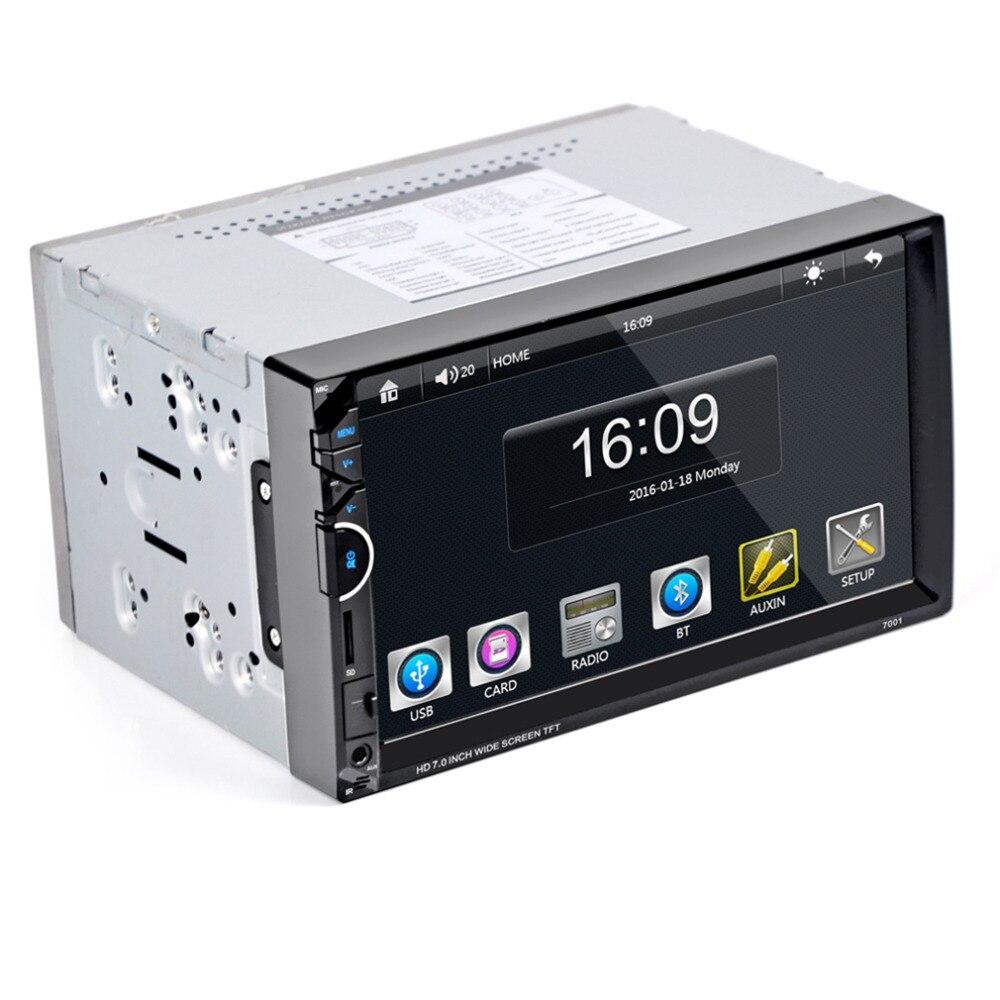 2017 7 coche Bluetooth Radios video MP5 reproductor Radios FM aux USB SD 7001 HD 1080 p táctil pantalla con AM + RDS reproductor de música