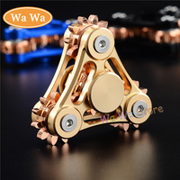 2017 Gear Hand Spinner Triangle Torqbar Metal Alloy Puzzle Finger Toy EDC Focus Spinner ADHD Austim