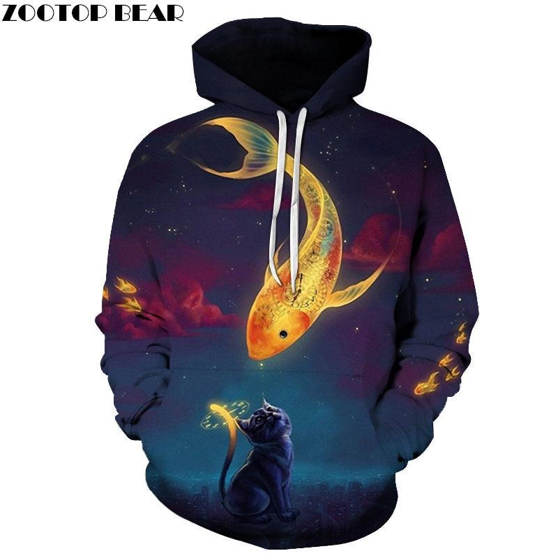 Energy Cat King Cosplay Hoodies Men Brand Sportsuit Streetwear Fashion Sweatshirts Animal 3D printed Long Sleeves ZOOTOP BEAR