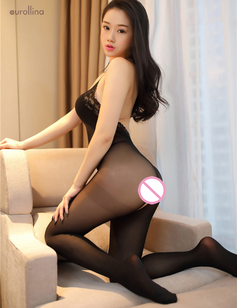 Gorgeous Babe Hot Nylon Bodystocking Sex Tempted Doggie Style Open Crotch Lingerie Stockings Lace Embroidery (7)