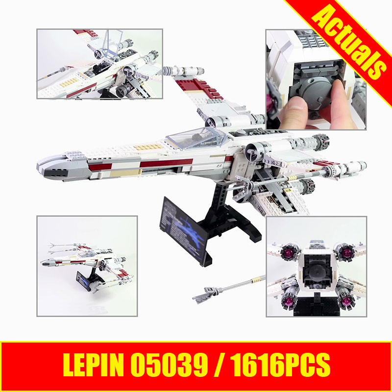 Lepin 05039 Star Genuine Wars Series The X UCS wing Red Five Star Toys fighter Set Building Blocks Bricks DIY Educational 10240 футболка классическая printio red five star wars
