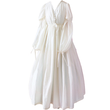 Estilo vintage mujeres dulce lolita dress princesa cosplay traje con cuello en v camisón de manga larga retro medieval vestidos de desgaste de la noche