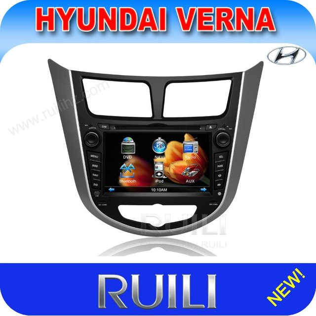 Promotion!! 7 inch Hyundai Verna car dvd gps with CANBUS Russian language and Free Russia Map (RL-499)