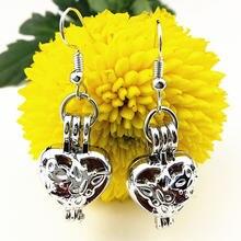 Серьги подвески женские в этническом стиле украшение форме сердца