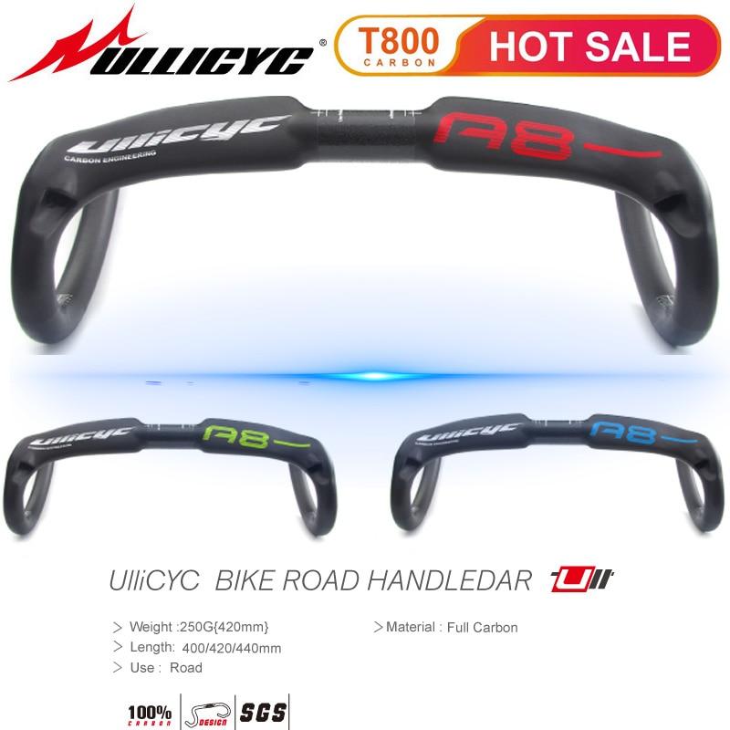 TOP brand ULLICYC A8 Ultra-light superstrong  Road Bike Handlebar Bent Bar Carbon Fiber Bicycle 31.8mm*400/420/440mm