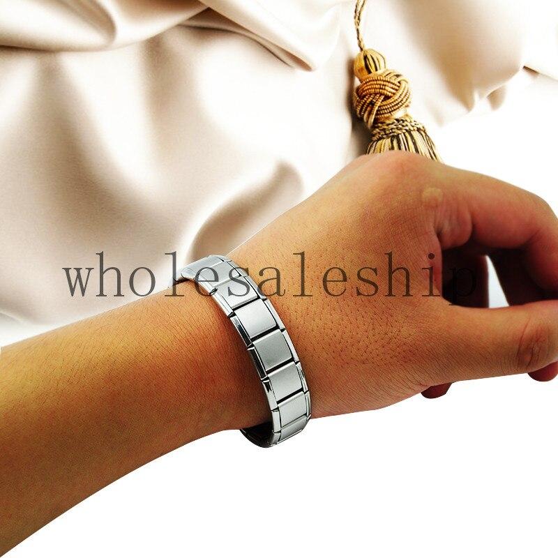 On Sale! Silver Titanium Health Bracelet Power Nano Energy Germanium Magnetic Balance Ion Powerful!
