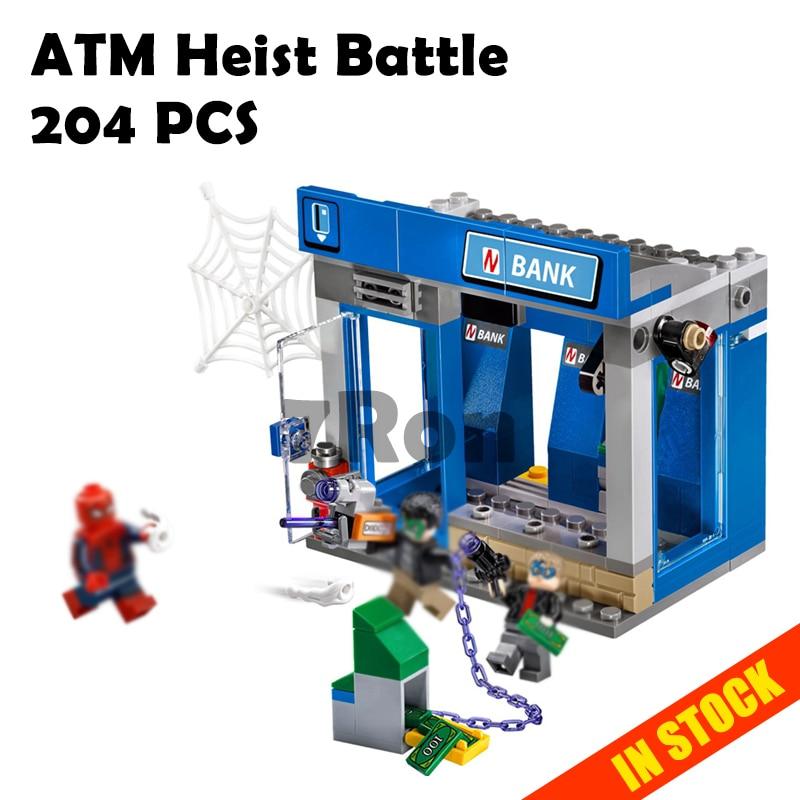 07089 super heroe ATM Heist Battle Compatible with lego blocks marvel 76082 spiderman Model building toys hobbies bricks for kid
