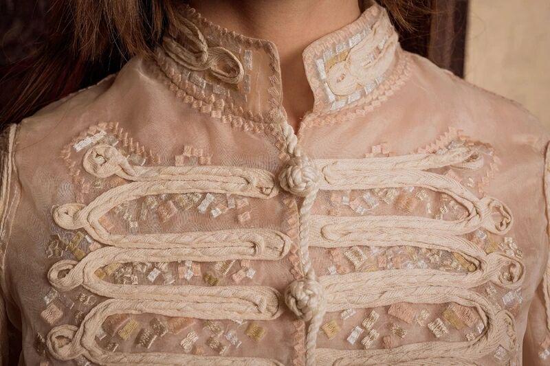 Cakucool الشمس سترة شفافة embroid الحرير قميص طويل الأكمام رقيقة تصميم المدرج الأورجانزا النساء سفع واقية-في السترات الأساسية من ملابس نسائية على  مجموعة 3