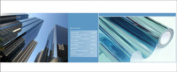 1.52*20m One way Mirrored Vinyl Film Blue Window Tint Solar Tint Film Static Cling Window Film Privacy Protector Sticker Decals