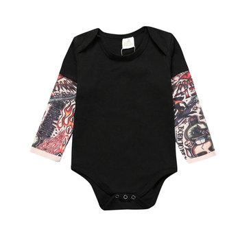 Nowość tatuaż body niemowlęce bawełniane z krótkim rękawem noworodek ubrania wiosenne ubranka chłopięce dla niemowląt jednokolorowy kombinezon dla noworodka tanie i dobre opinie Kids Tales CN (pochodzenie) Unisex COTTON W wieku 0-6m 7-12m 13-24m BDT-SY057 Stałe baby O-neck Pasuje prawda na wymiar weź swój normalny rozmiar
