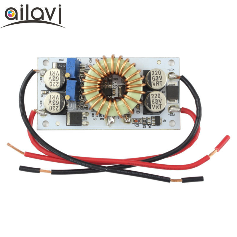 DC-DC Boost Converter Adjustable 9~48V To 10~50V10A Step Up Constant Current Power Supply Module Led Driver Aluminum plate 250W