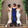 vestido de festa curto African Bridesmaids Dresses Custom Made Size And Color Ankle Length Stain Girls Wedding Party Gowns