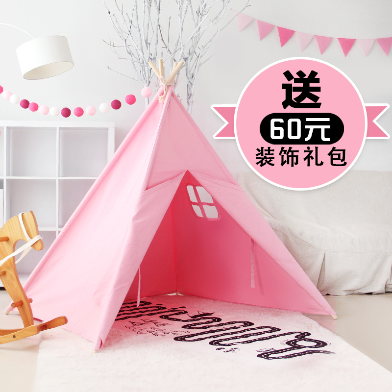 free shipping 9 colors Kids Indian Tipi tent Children Teepees Cotton Canvas Playhouse Fabric Indoor Play