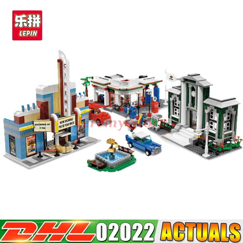 2080pcs Lepin 02022 City 50th Anniversary Town Building Blocks Bricks educational Toys for children Gifts 10184 waz compatible legoe city lepin 2017 02022 1080pcs city 50th anniversary town figure building blocks bricks toys for children