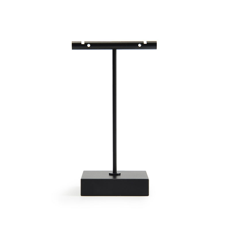 Oirlv Metal T Bar Black Jewelry Earrings Display Stand Counter Showcase