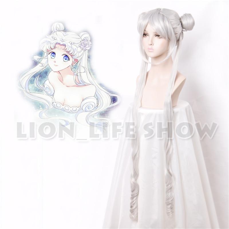 Silver Serenity Princess Wigs Sailor Moon Crystal New Queen Serenity Tsuking Usagi Super Sailor Moon Gray Cosplay Wig