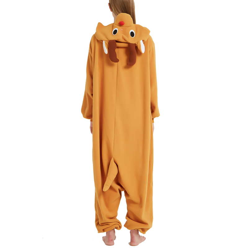 Funny Christmas Elk Kigurumi Onesie Animal Deer Jumpsuit Sleepwear Adult Pajamas Polar Fleece For Halloween Pyjamas Home Party (3)