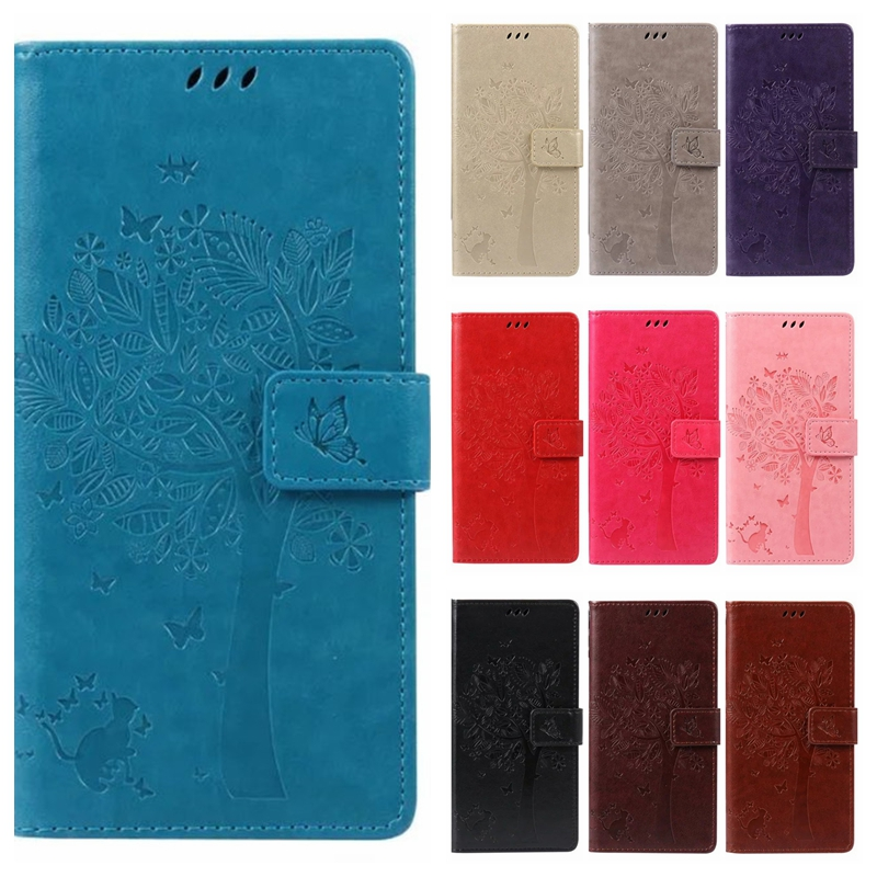 Leather case for coque Sony Xperia Z3 D6603 D6653 Case Cover for coque Sony Xperia Z3 Tree Pattern Mobile Phone bags+card holder