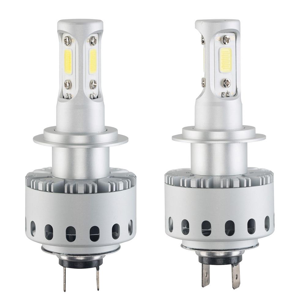 2X7P H7 16000LM 80W White Auto Car 6500K LED Bulb Head Light universal 6000k Led lamp for auto Light bulb led car lights led 12v 12v led light auto headlamp h1 h3 h7 9005 9004 9007 h4 h15 car led headlight bulb 30w high single dual beam white light