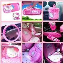 Hello Kitty – Seat Cushion, Steering Cover, Sun Visor, CD Storage Bag