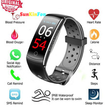 U14 Full View HD Color Screen Smart Wristband Bracelet Dynamic Heart Rate Blood