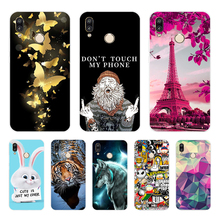 64G Pink Blue  Ink Marble for Huawei P20 lite Case Cover Soft Silicone TPU Back Protective Phone huawei p20 case